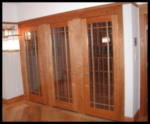 9 Lite Wineroom door