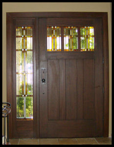 Classic Craftsman 3 lite/3 panel entry w/ sidelite