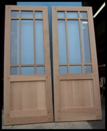 9 lite over single panel french door