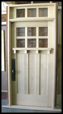 Classic Craftsman 6/3 Entry system with divided transom