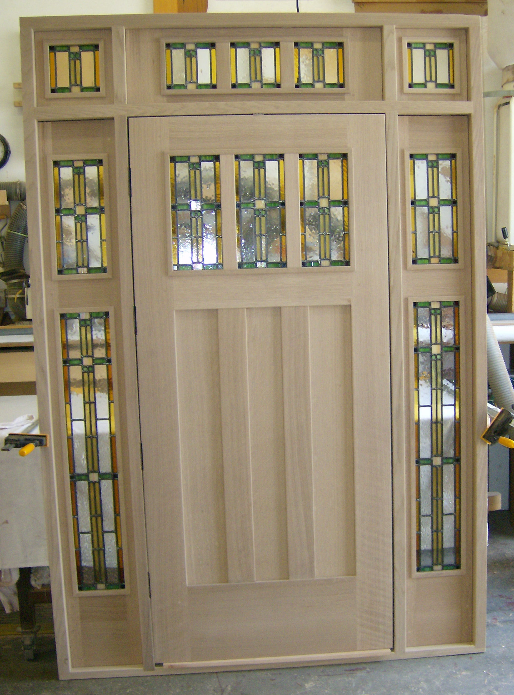 French wood front doors - Heart Of Oak Workshop Authentic Craftsman Mission Style Door Designs