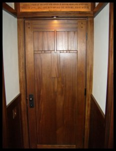 FLW # 2 Interior door ... & Heart of Oak Workshop Authentic Craftsman u0026 Mission style Door Designs