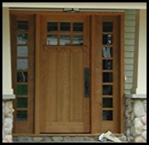 Classic Craftsman 6/3 Entry system with divided sidelites