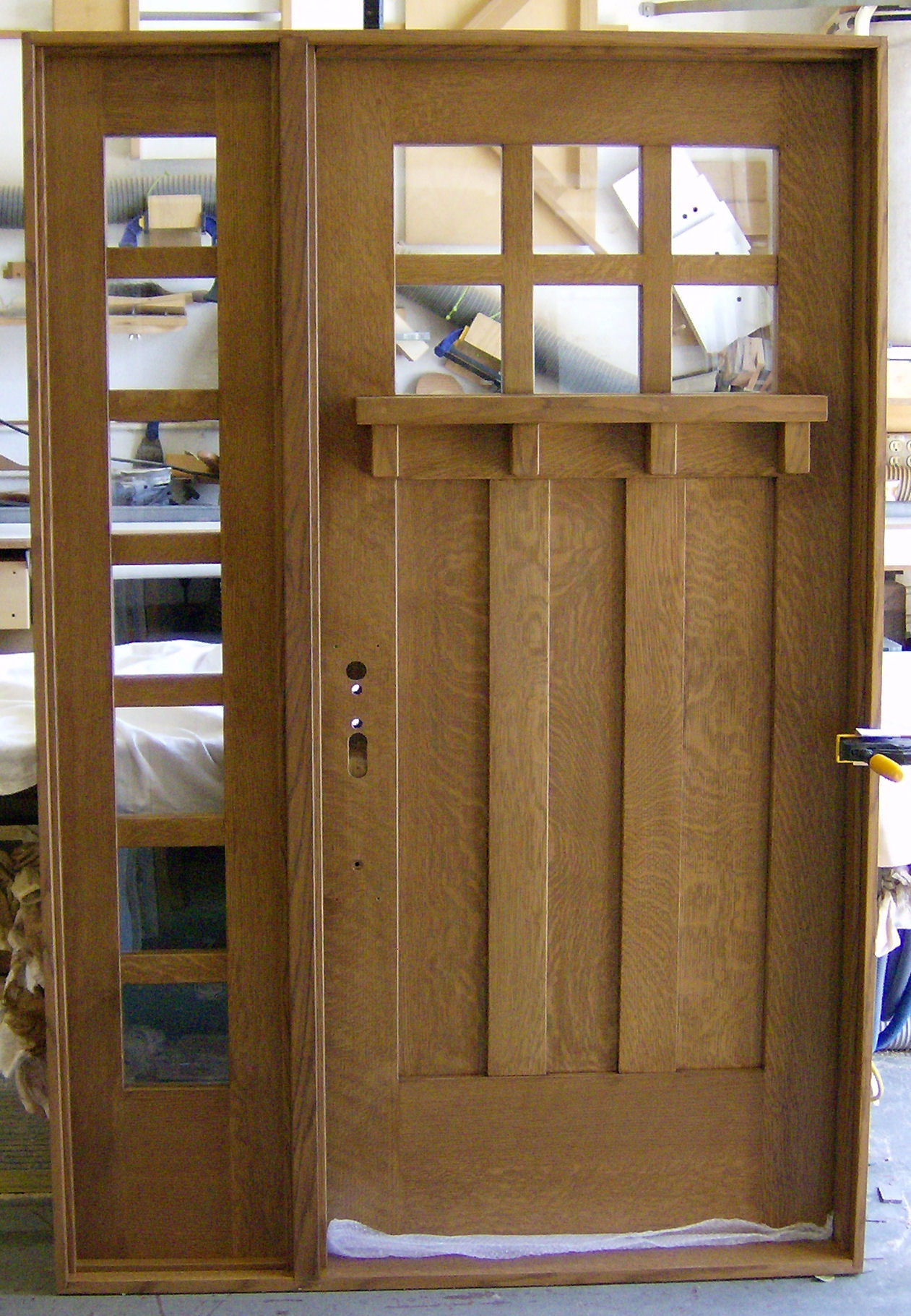 1821 #674724  Of Oak Workshop Authentic Craftsman & Mission Style Door Designs pic Mission Style Entry Doors 40811261