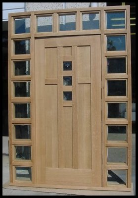 Heart of oak workshop authentic craftsman mission style for Californian bungalow front door