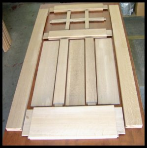 Heart of oak workshop arts crafts style doors for Solid wood door construction